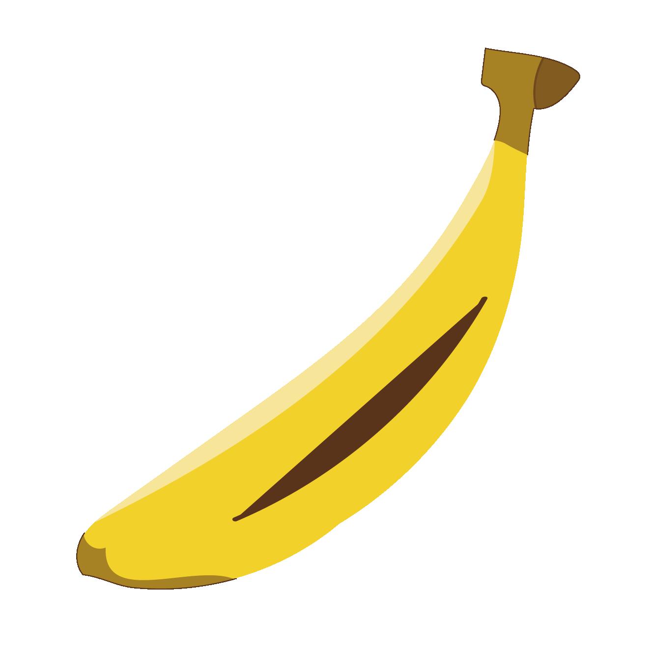 バナナ(ばなな)一本 のイラスト【果物・フルーツ】 | 商用フリー