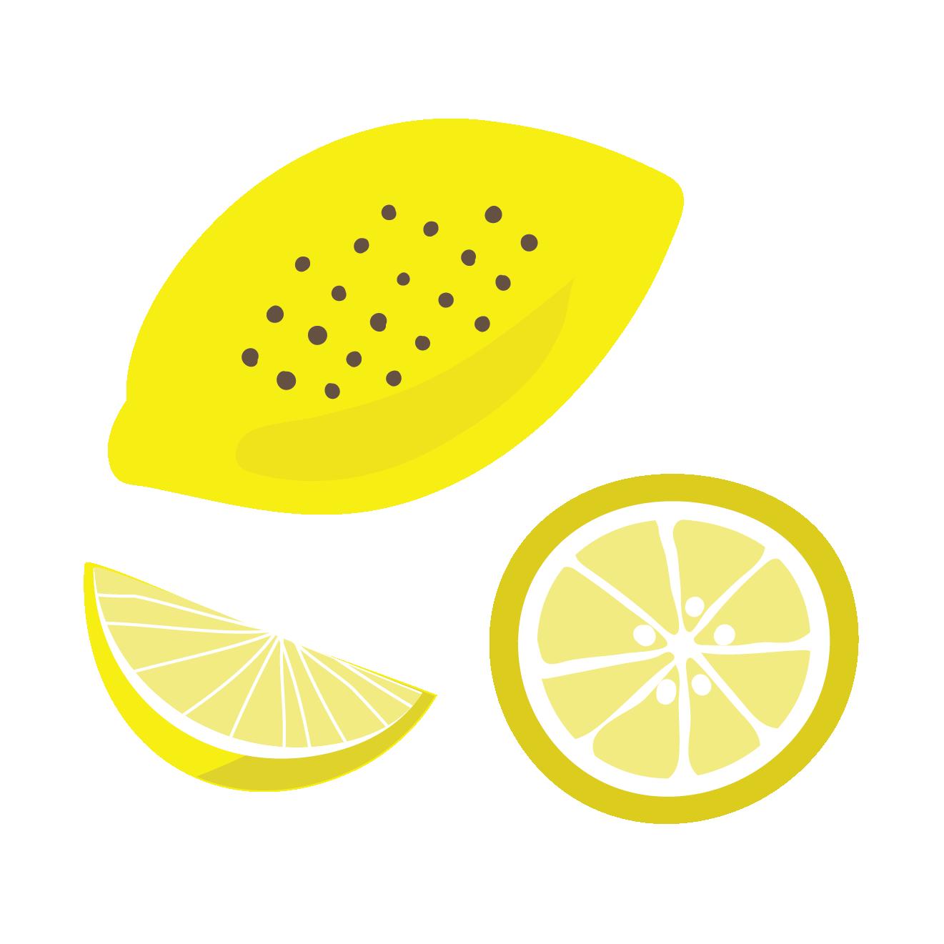 檸檬れもんレモンのイラスト 柑橘類 商用フリー無料の