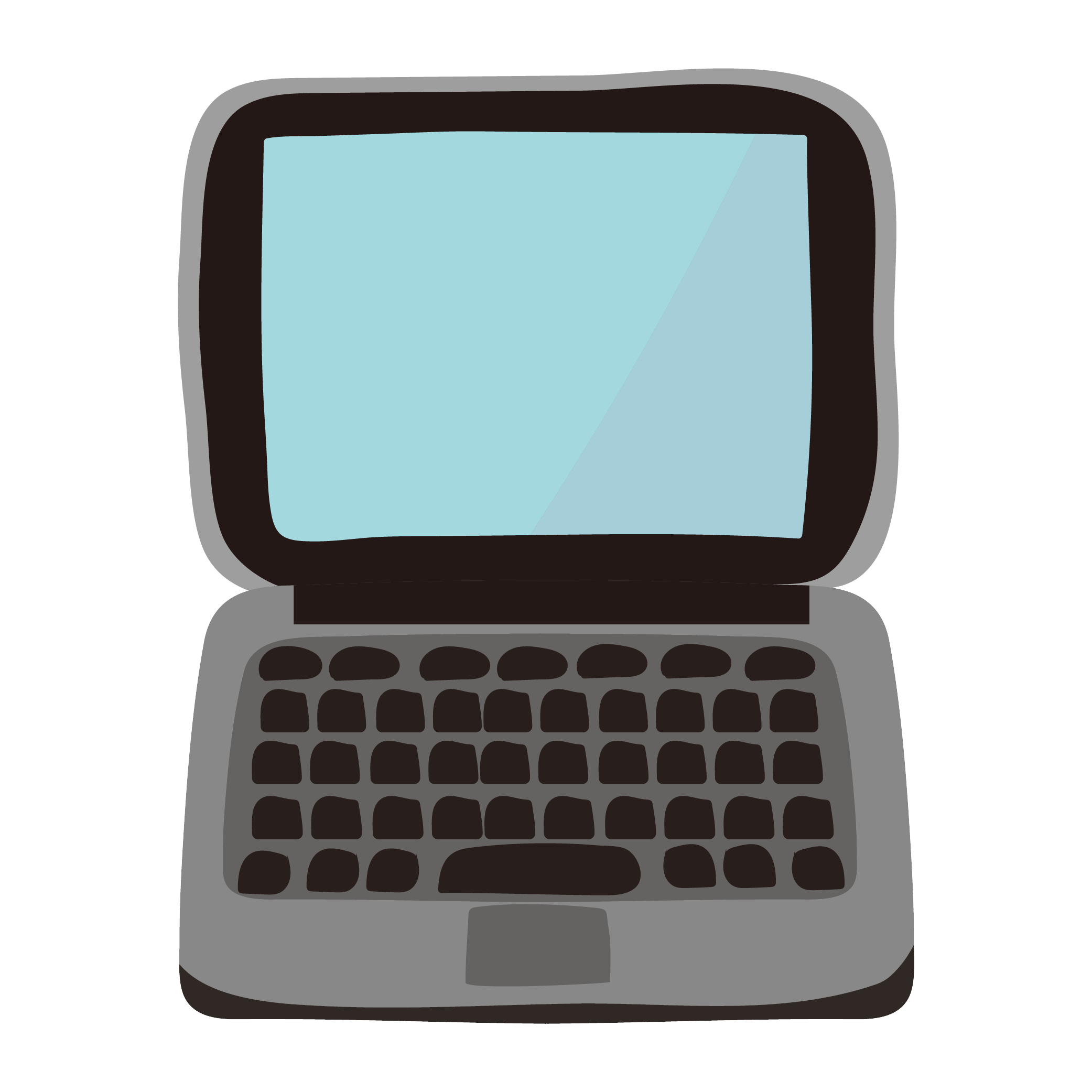 ノートパソコン(pc・ラップトップ)のイラスト | 商用フリー(無料)の
