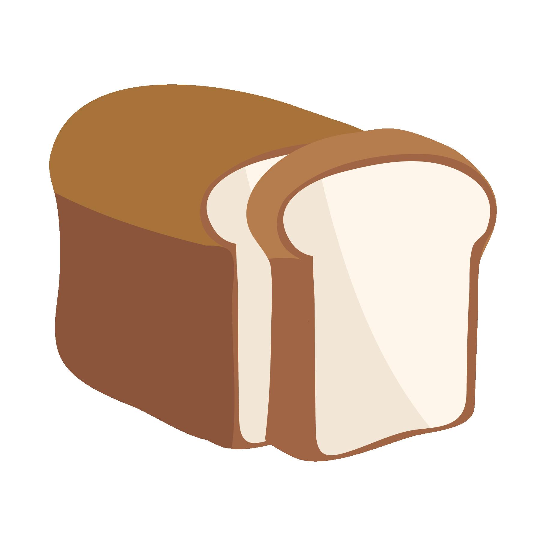 山型山切り食パンイギリスパンのイラスト 商用フリー無料の