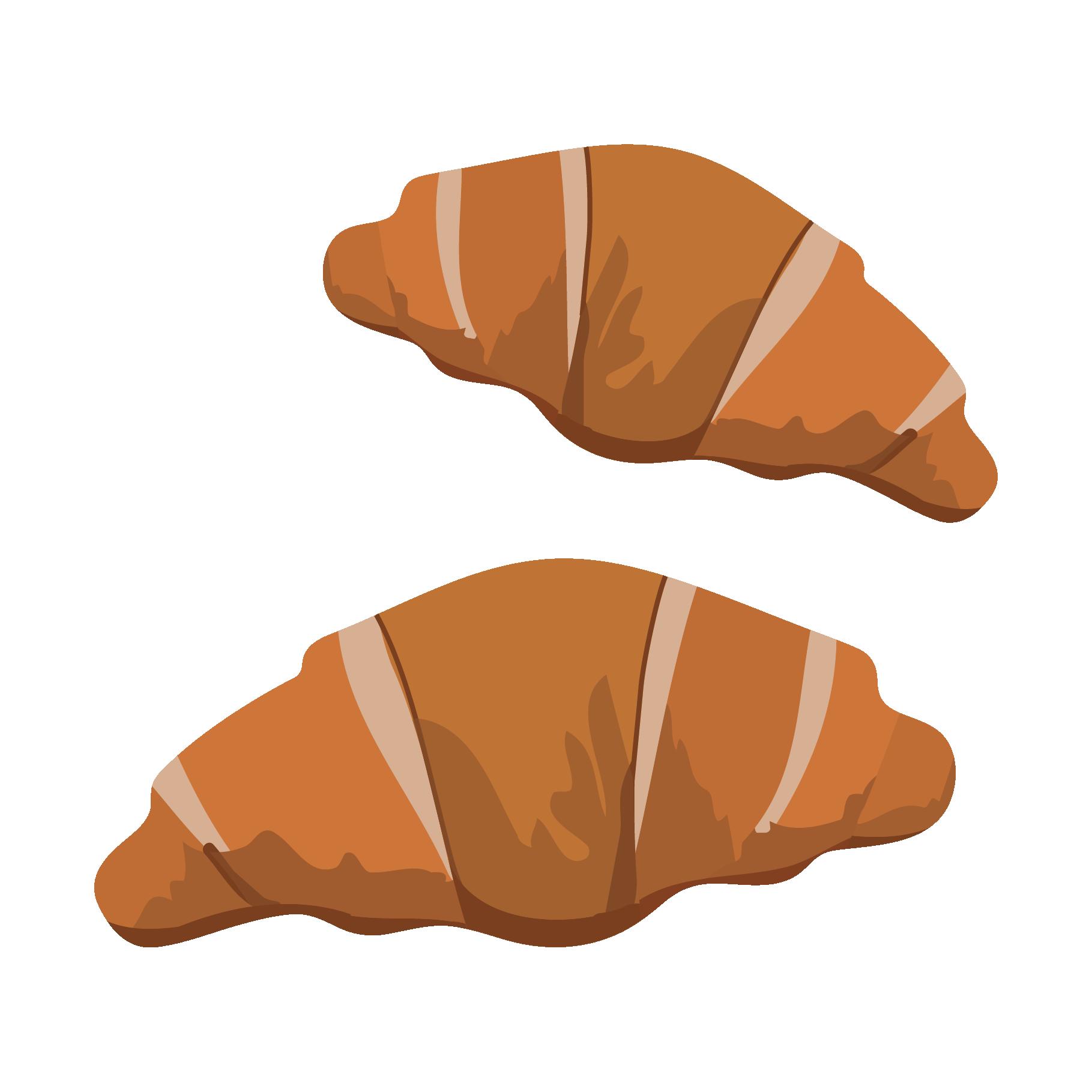 クロワッサン(くろわっさん)パンのイラスト | 商用フリー(無料)の