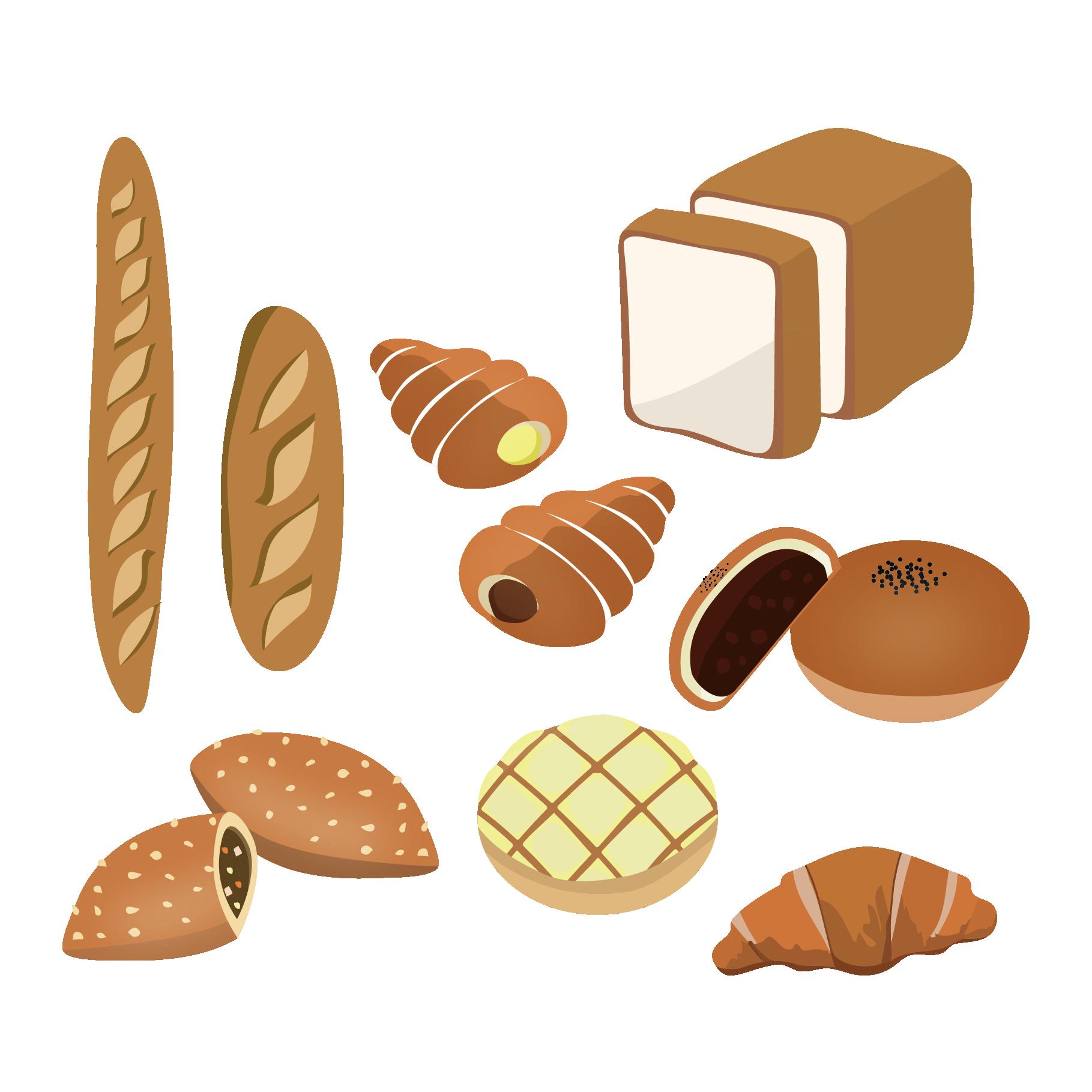 パン イラスト おしゃれ | 7331 イラス
