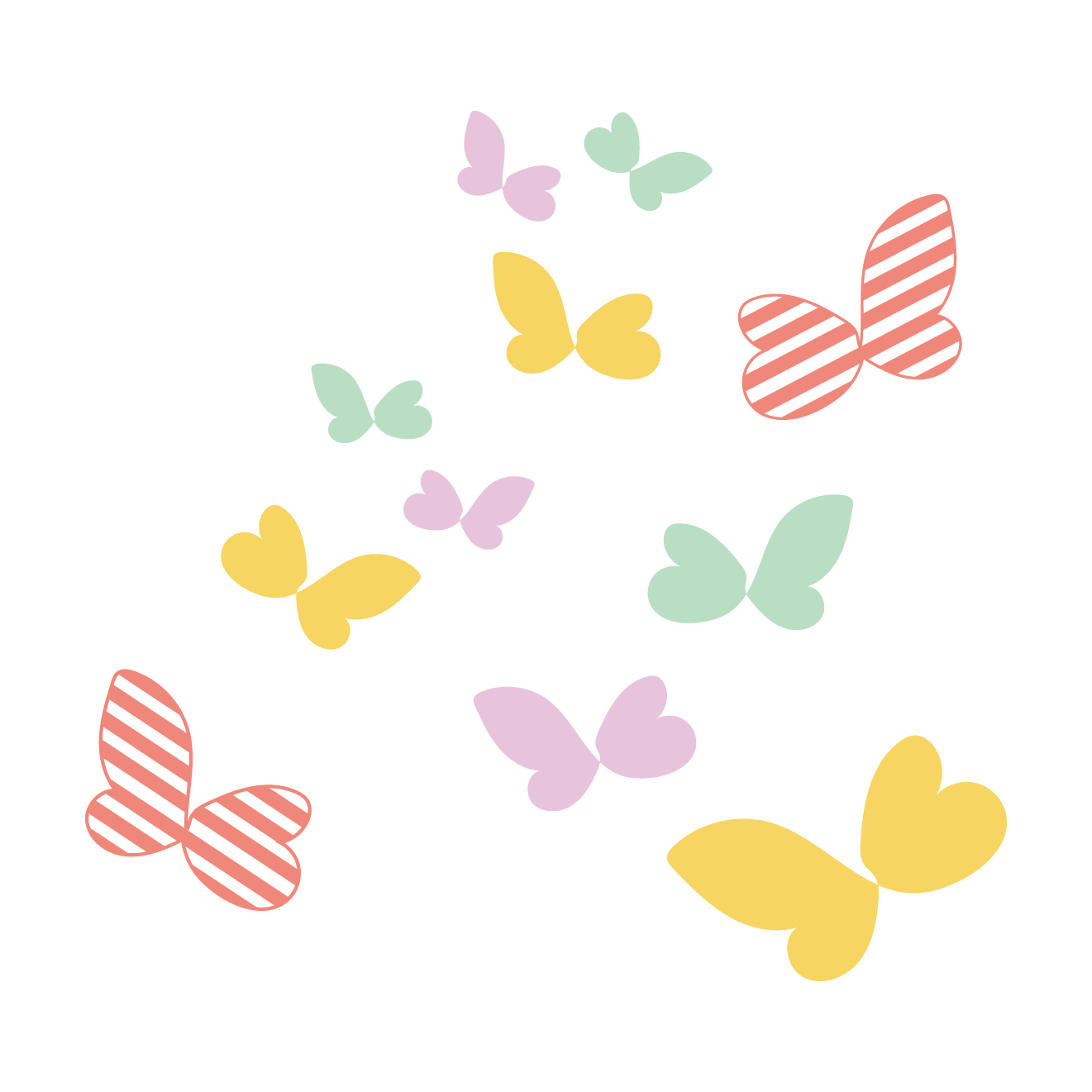 かわいい蝶(ちょう・ちょうちょ)のイラスト | 商用フリー(無料)の