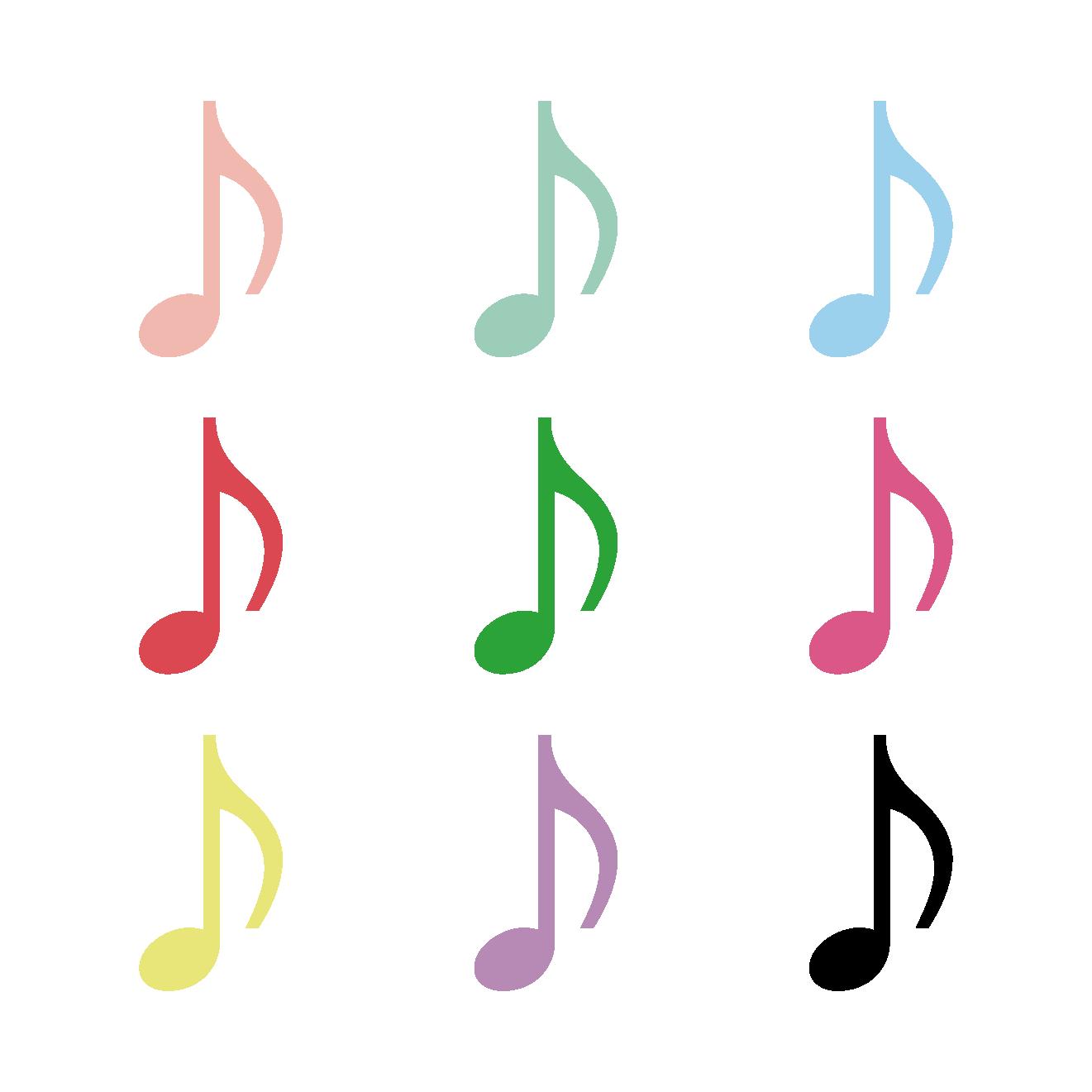 8分音符はちぶおんぷのイラスト音楽 商用フリー無料の