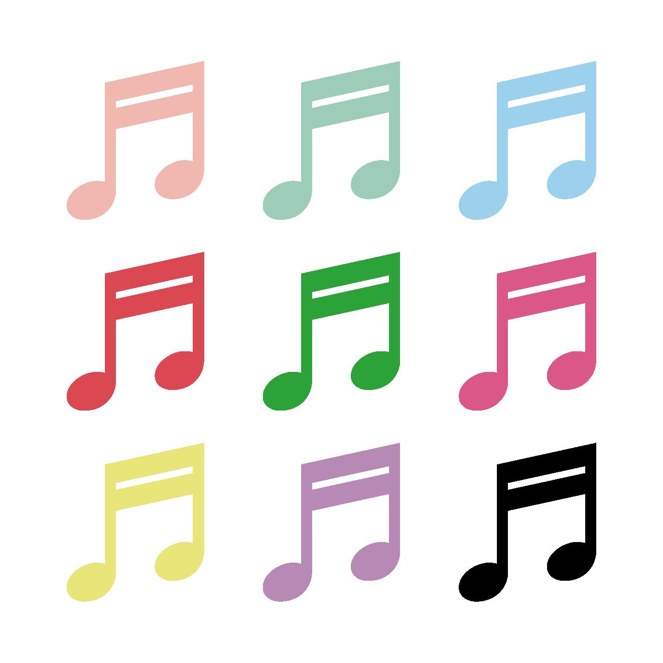 16分音符 2連符じゅうろくぶおんぷにれんぷのイラスト音楽