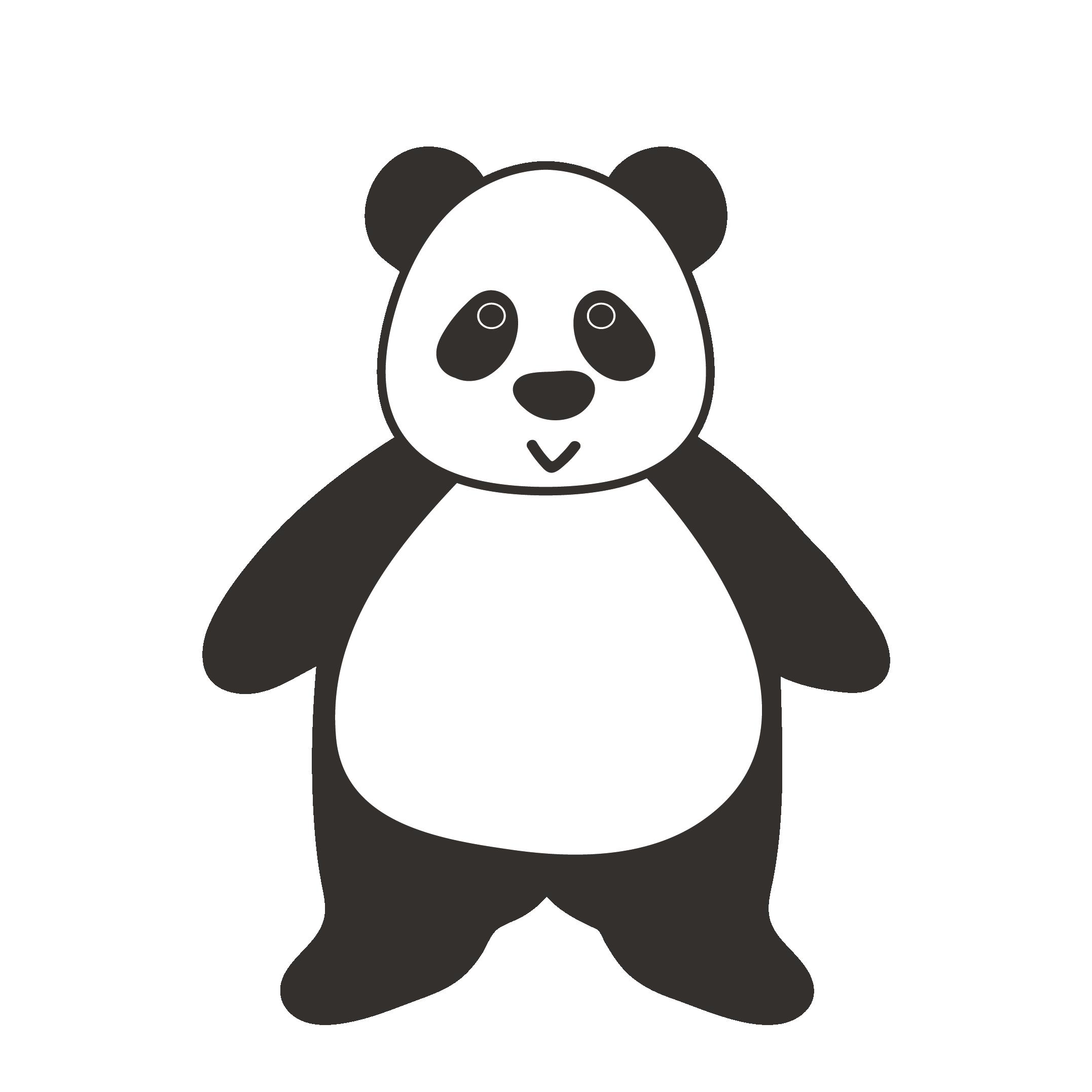 パンダ イラスト 全身バーション | 商用フリー(無料)のイラスト素材