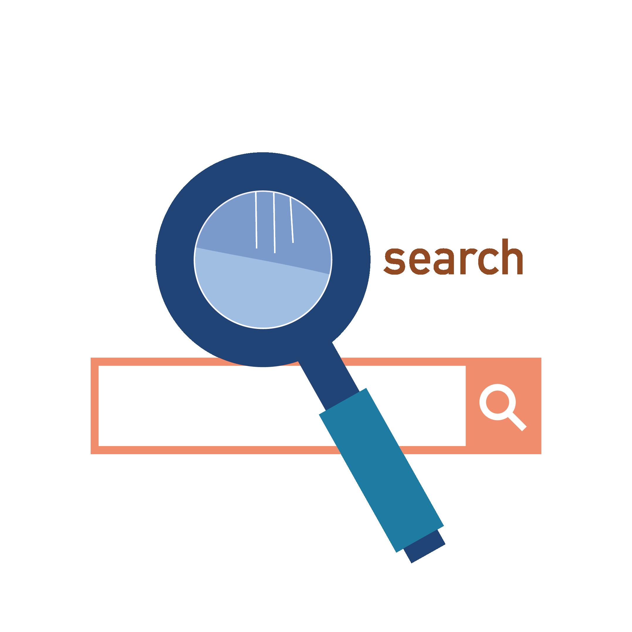 検索マーク イラストインターネット検索 商用フリー無料の