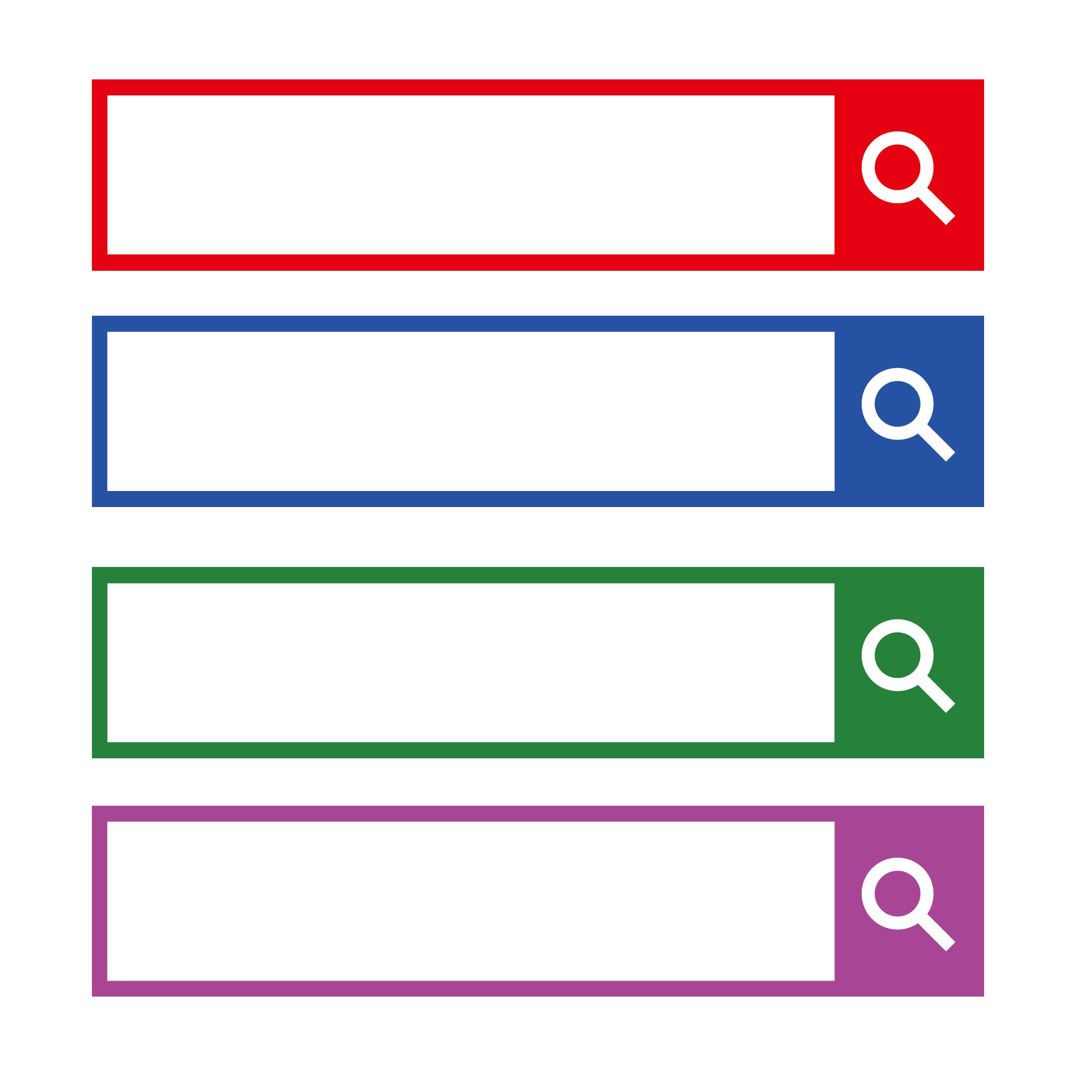 検索窓 イラスト デザイン 4色展開 | 商用フリー(無料)のイラスト素材