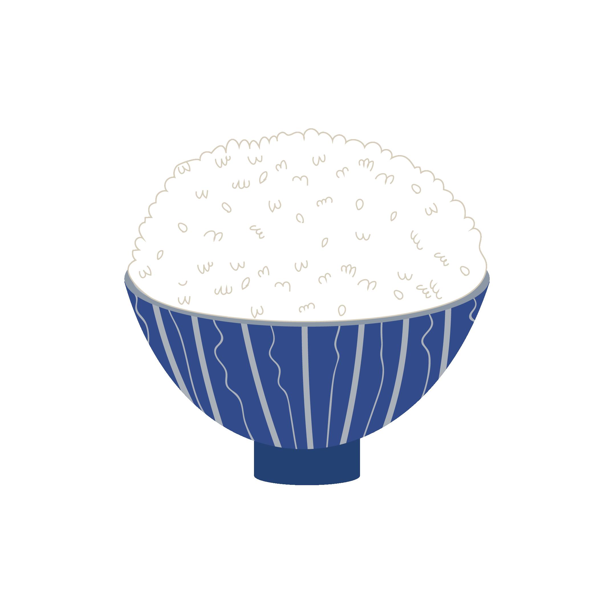大盛りご飯ライスお米のイラスト 商用フリー無料のイラスト