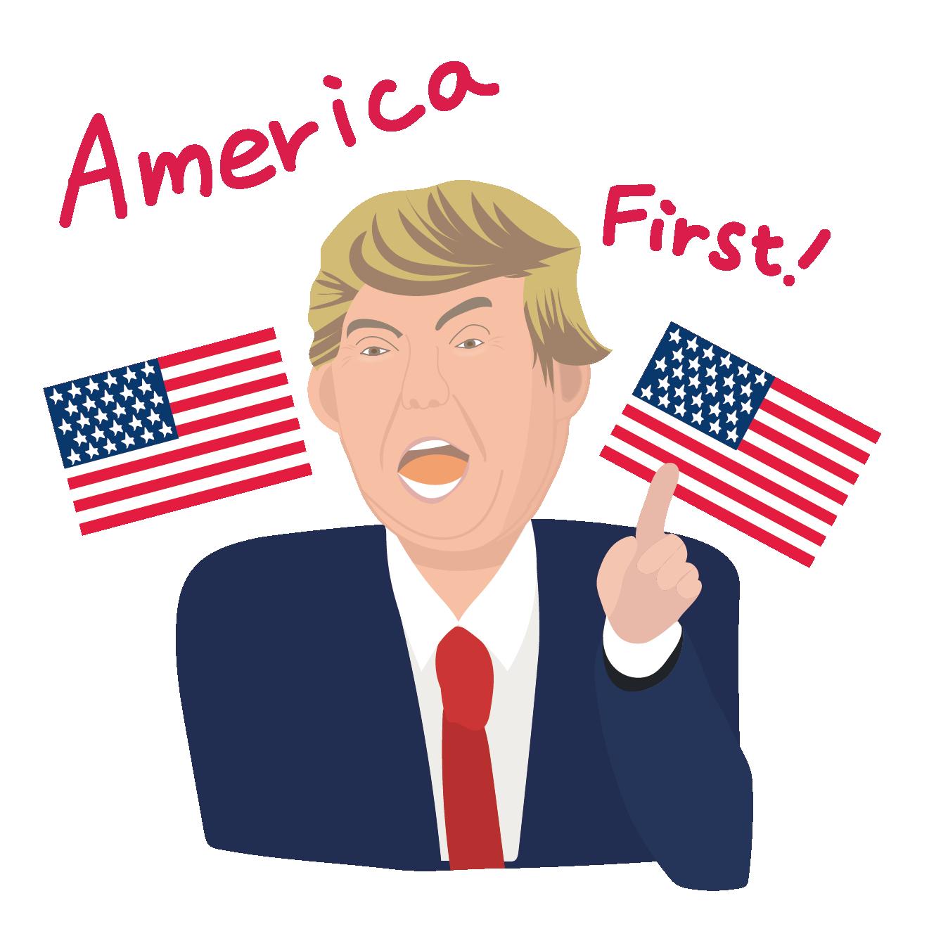 アメリカ大統領のイラストアメリカ ファーストamerica First