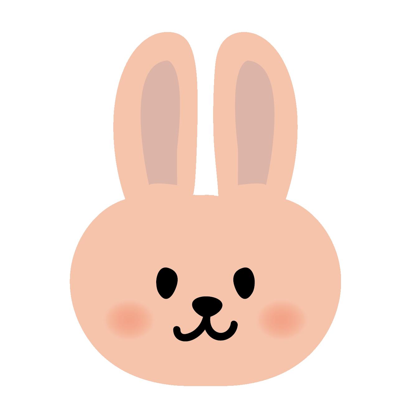 かわいいウサギの顔のアップ イラスト   商用フリー(無料)のイラスト素材