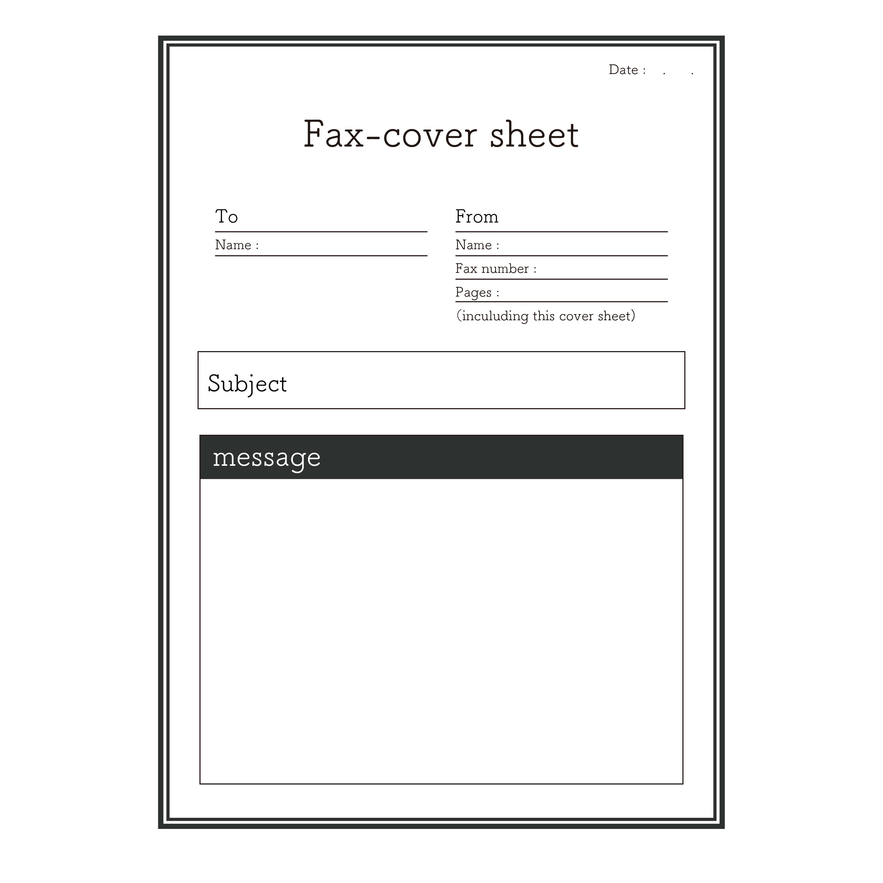 fax(ファックス)送付状 イラスト!おしゃれな英語バージョン