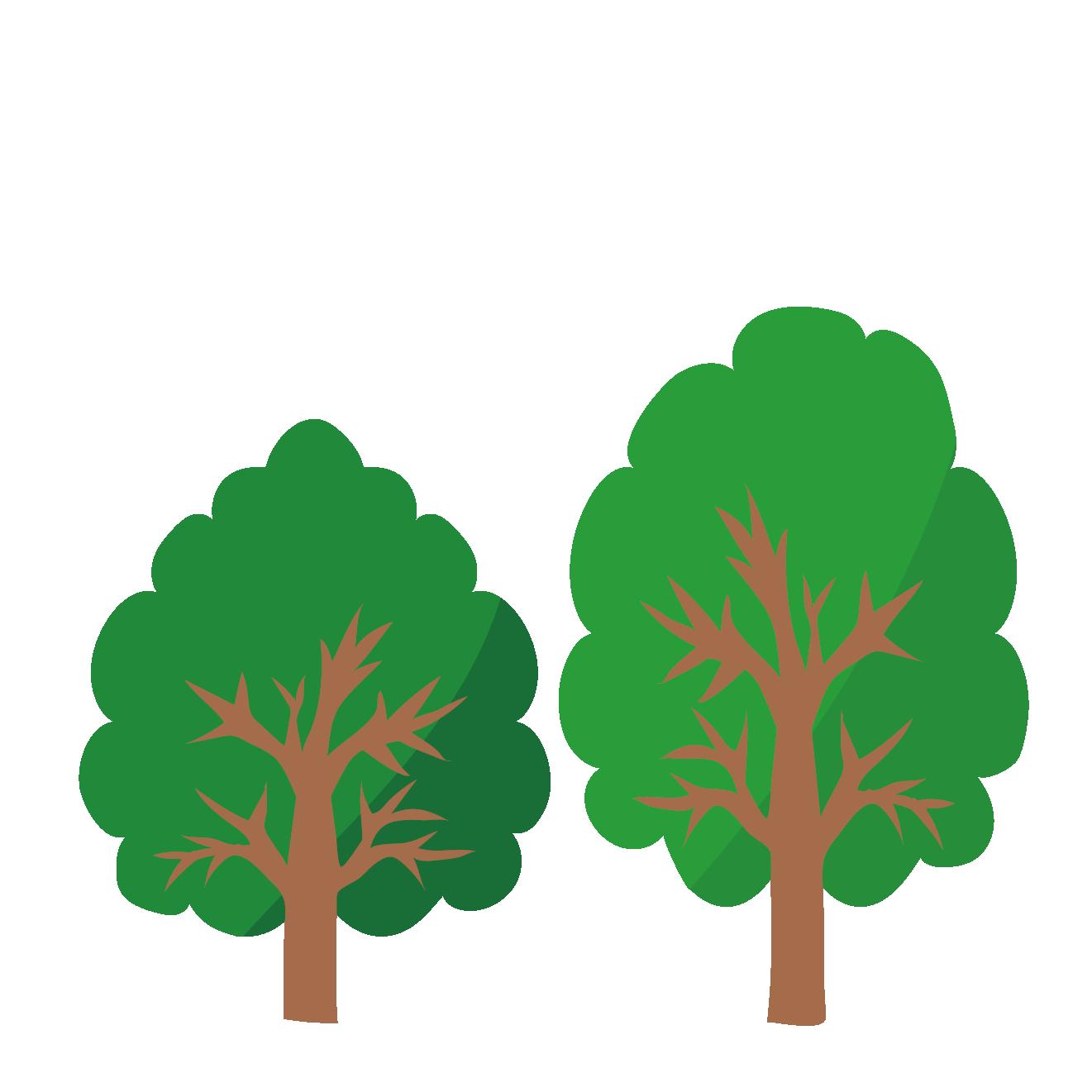 新緑木々木のイラスト 商用フリー無料のイラスト素材なら