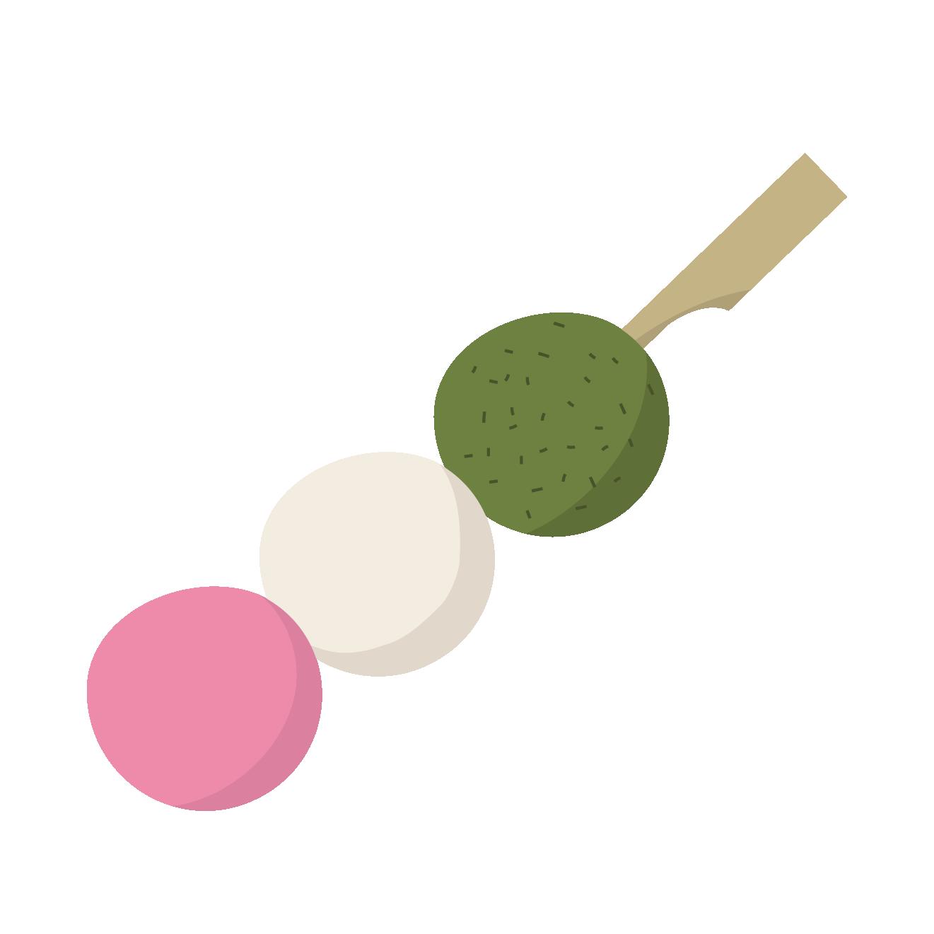 お花見に三色団子のイラスト和菓子 商用フリー無料のイラスト