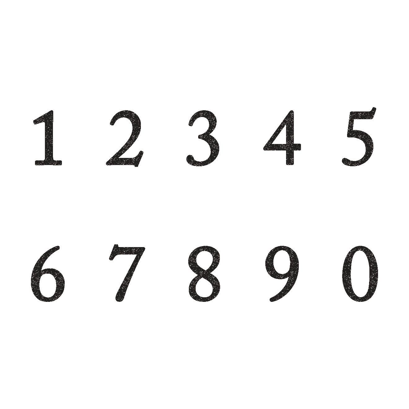 シンプルオシャレな数字のスタンプ イラスト | 商用フリー(無料)の