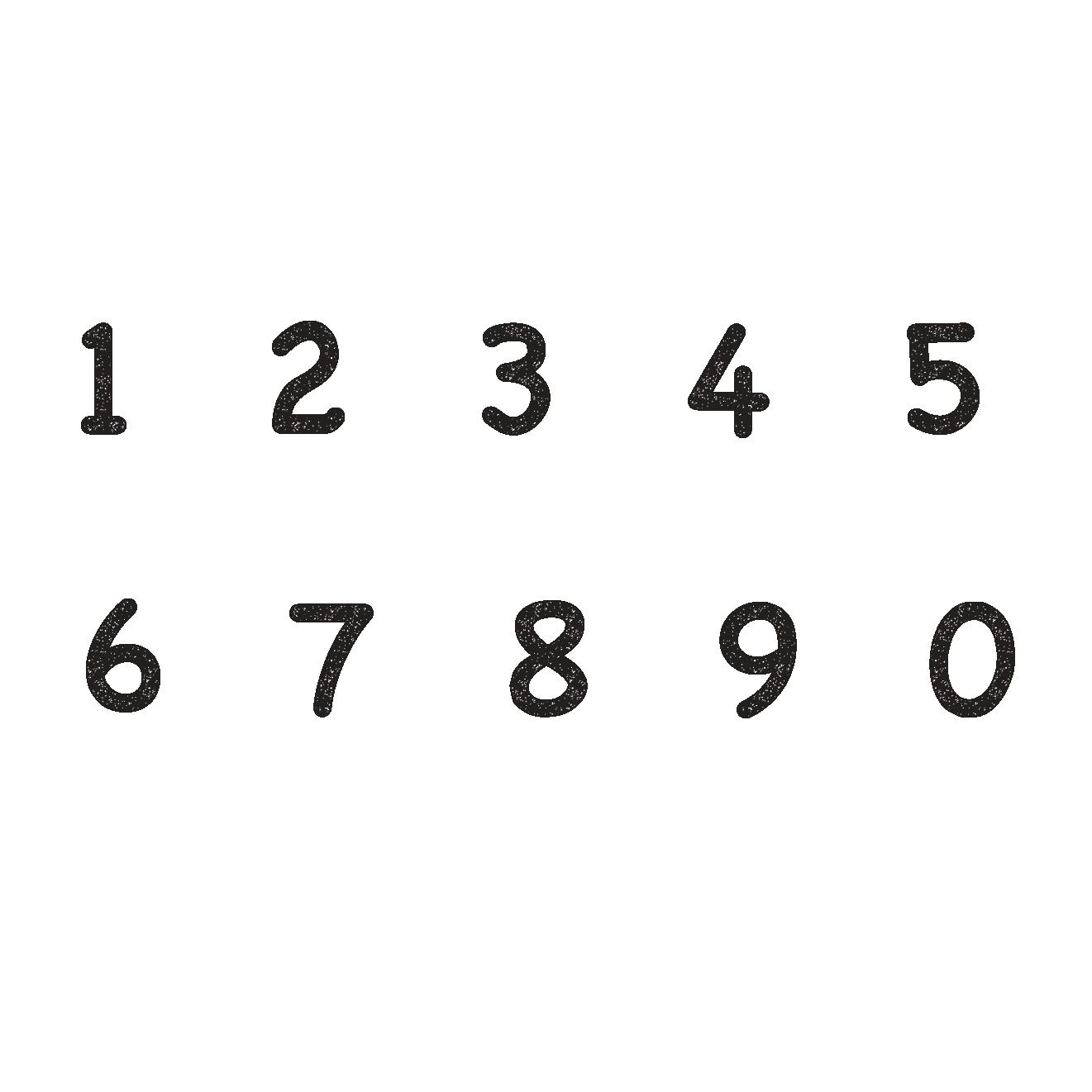 かわいい&オシャレな数字のスタンプ イラスト | 商用フリー(無料)の
