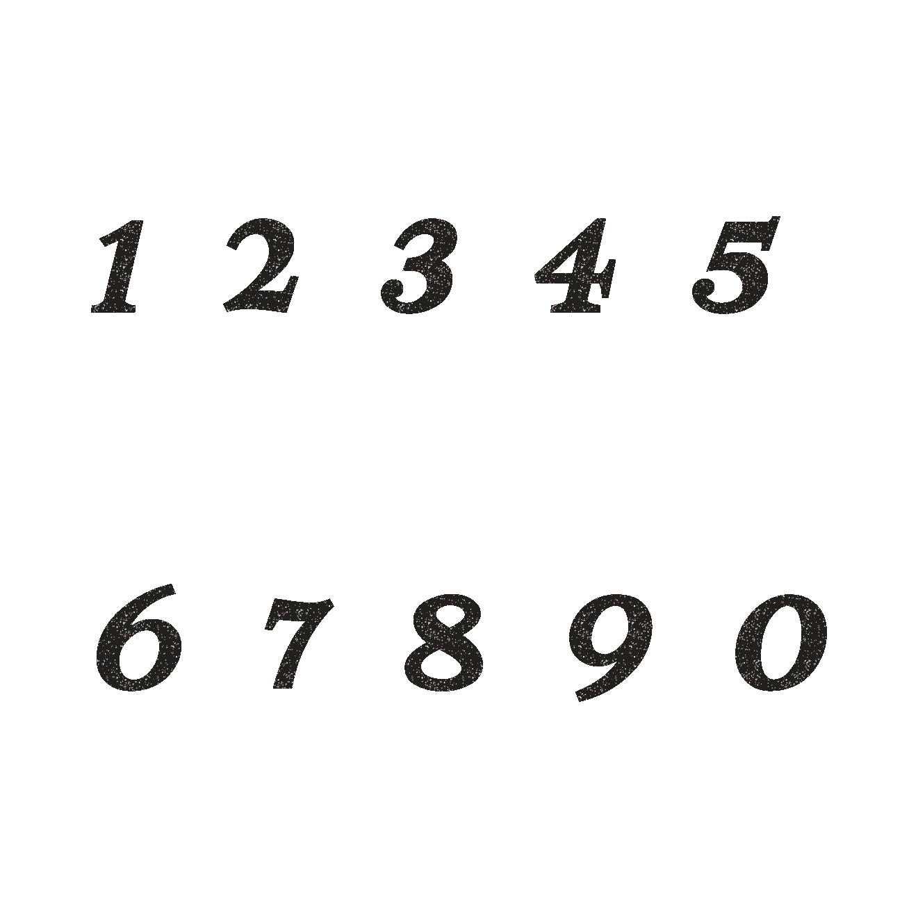 オシャレで印象的な数字のスタンプ!イラスト | 商用フリー(無料)の