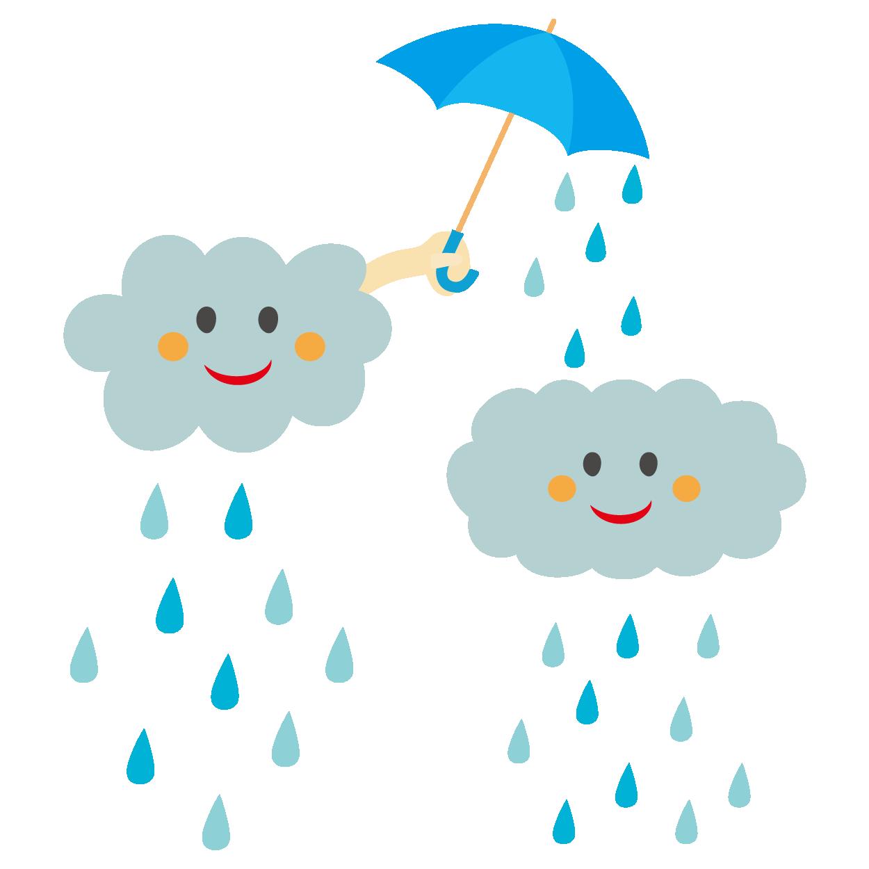 かわいい雨模様のイラスト | 商用フリー(無料)のイラスト素材なら