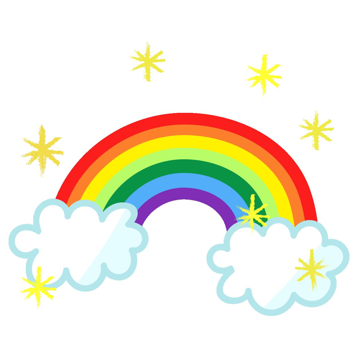 かわいい虹(にじ・レインボー)のイラスト! | 商用フリー(無料)の