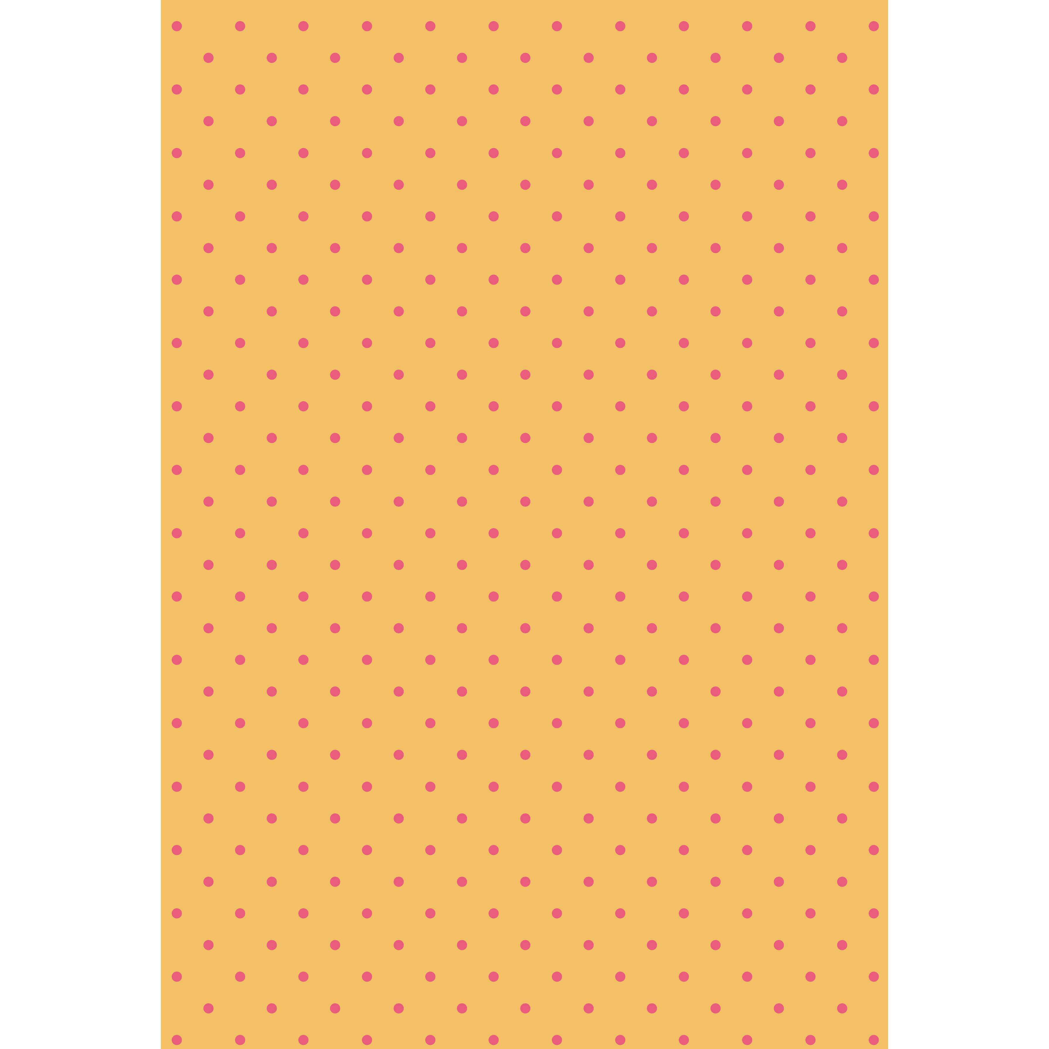 水玉(ドット)オレンジ×ピンク 背景デザイン イラスト | 商用フリー