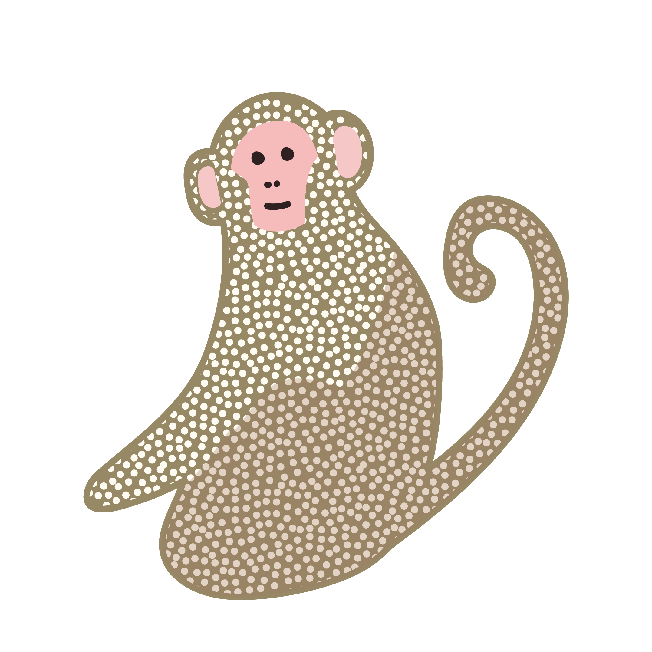 おしゃれでかわいい♪猿(サル・モンキー)のイラスト【動物】 | 商用