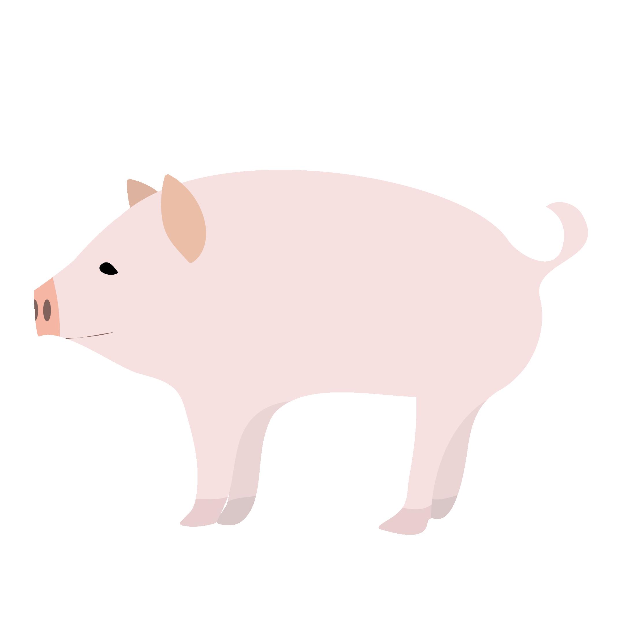 かわいい豚ぶたちゃん イラスト 商用フリー無料のイラスト素材