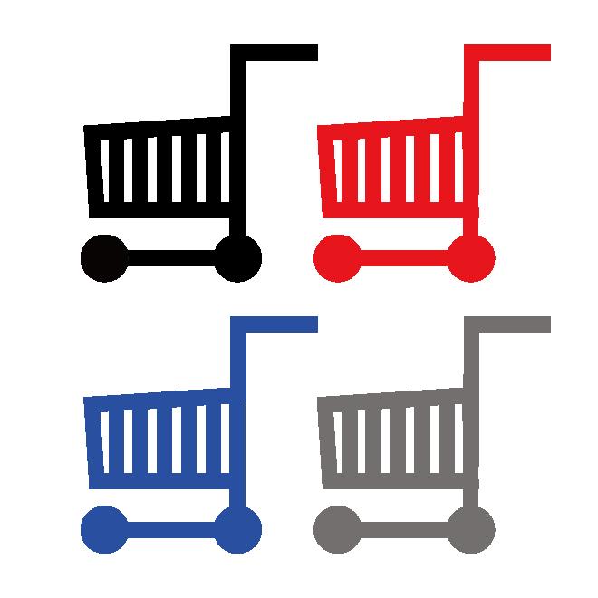 ショッピングカート マーク買い物カゴ買い物カートイラスト 商用