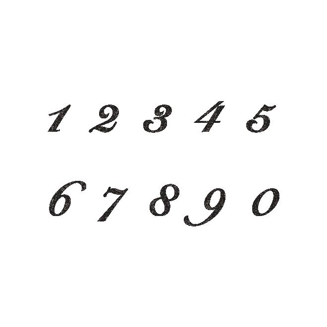 オシャレで大人っぽい雰囲気の数字のスタンプ イラスト 商用フリー 無料 のイラスト素材なら イラストマンション