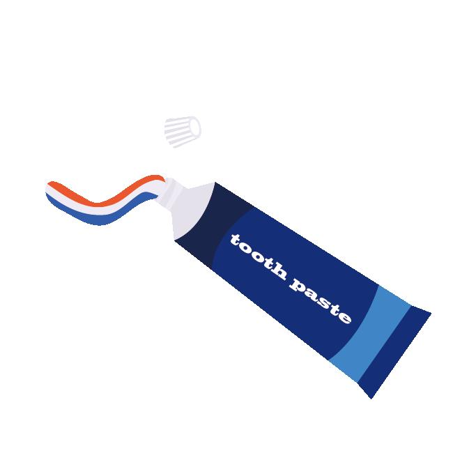 歯磨き粉はみがきこトゥースペーストイラスト 商用フリー無料