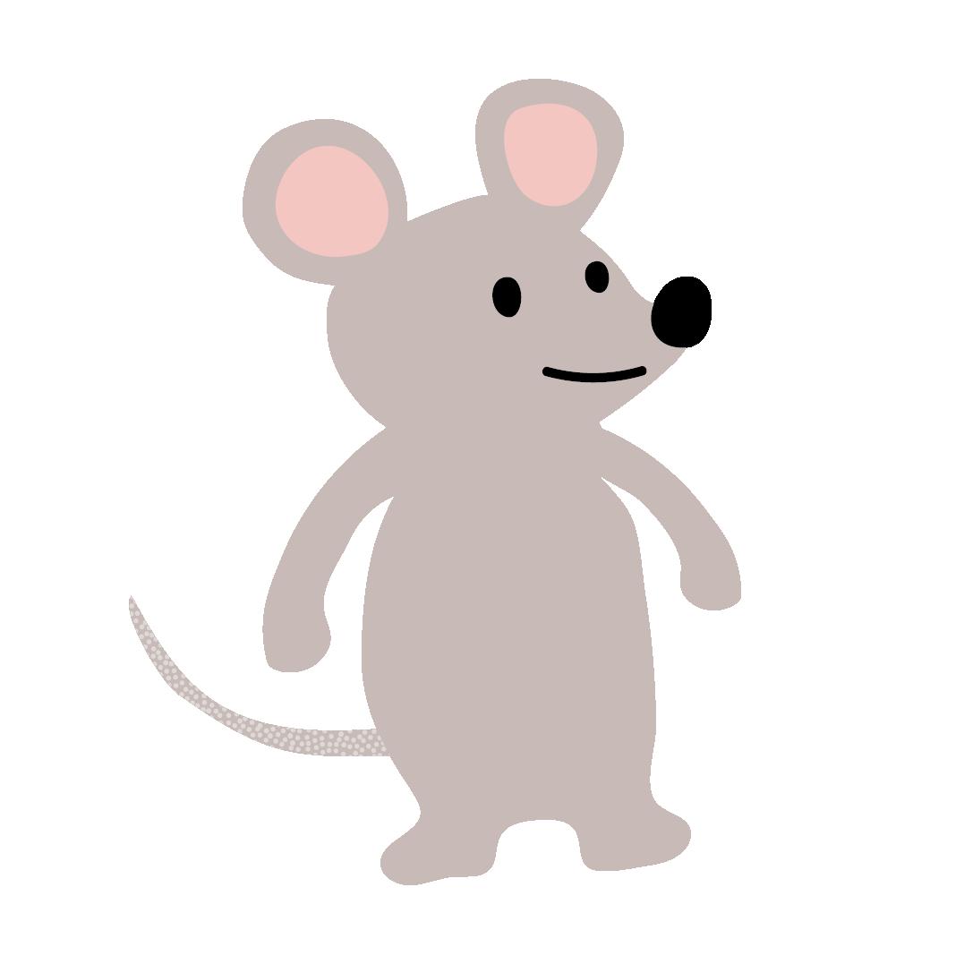 かわいいネズミ鼠ねずみのイラスト 商用フリー無料の