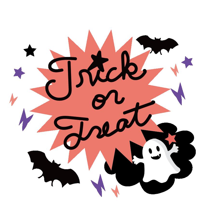 ハロウィン おしゃれな フリー イラストデザインおばけのロゴ文字