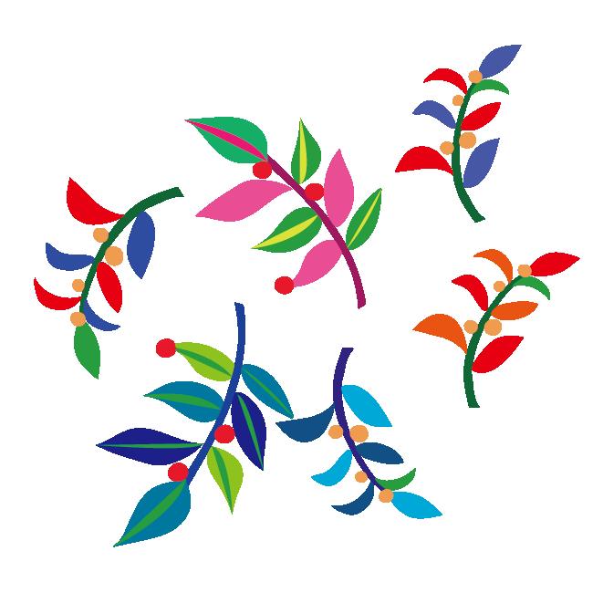 おしゃれな葉っぱ植物のデザインモチーフ イラスト 商用フリー