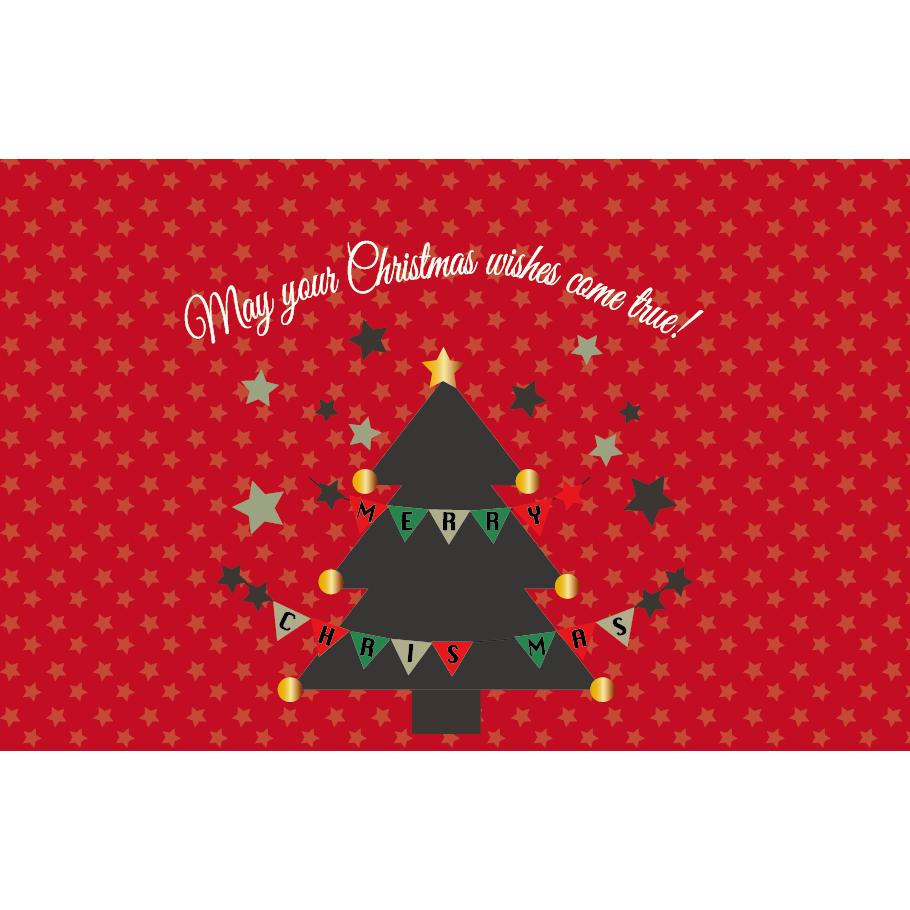 かわいいクリスマスカードと メッセージのイラストグリーティング