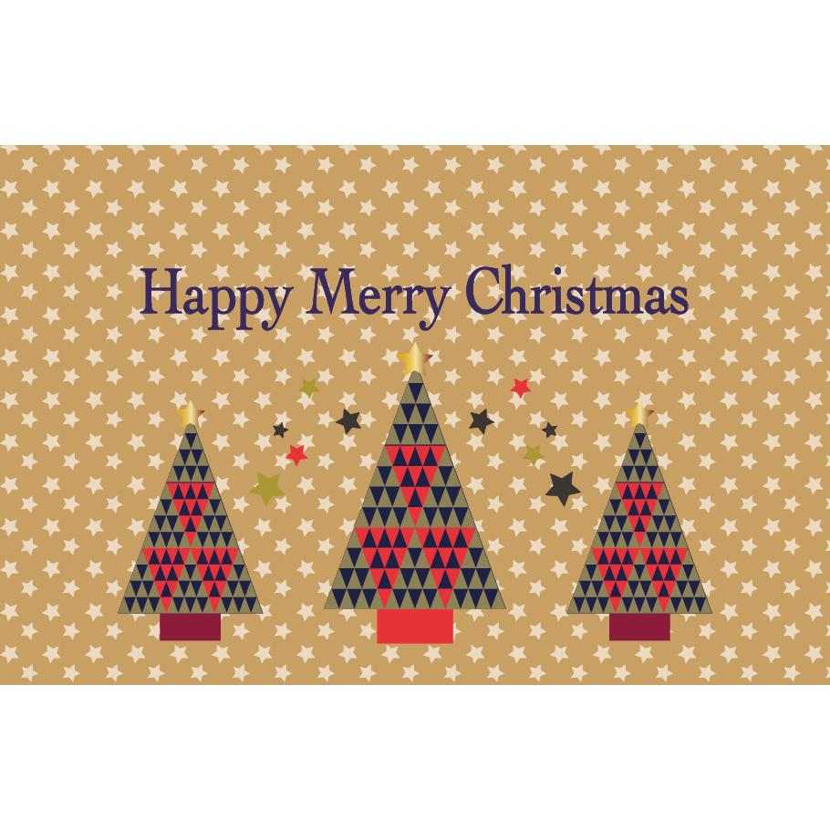 北欧風かわいいクリスマスカードの メッセージ イラスト横 商用