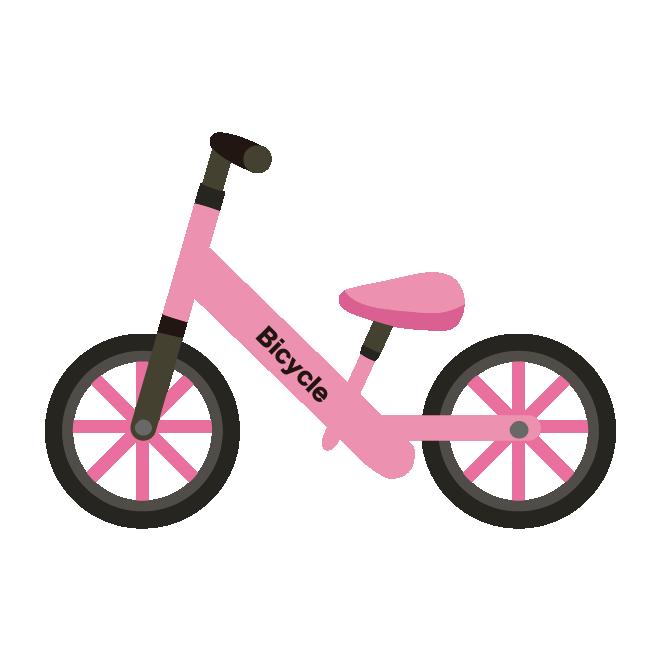 かわいい 子供の自転車ペダルなしランニングバイクピンク