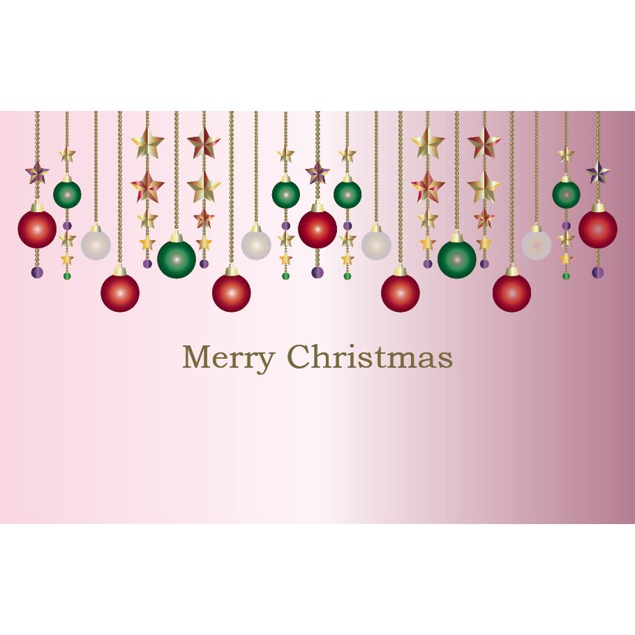 かわいい クリスマス飾り オーナメント のクリスマスカード イラスト 商用フリー 無料 のイラスト素材なら イラストマンション