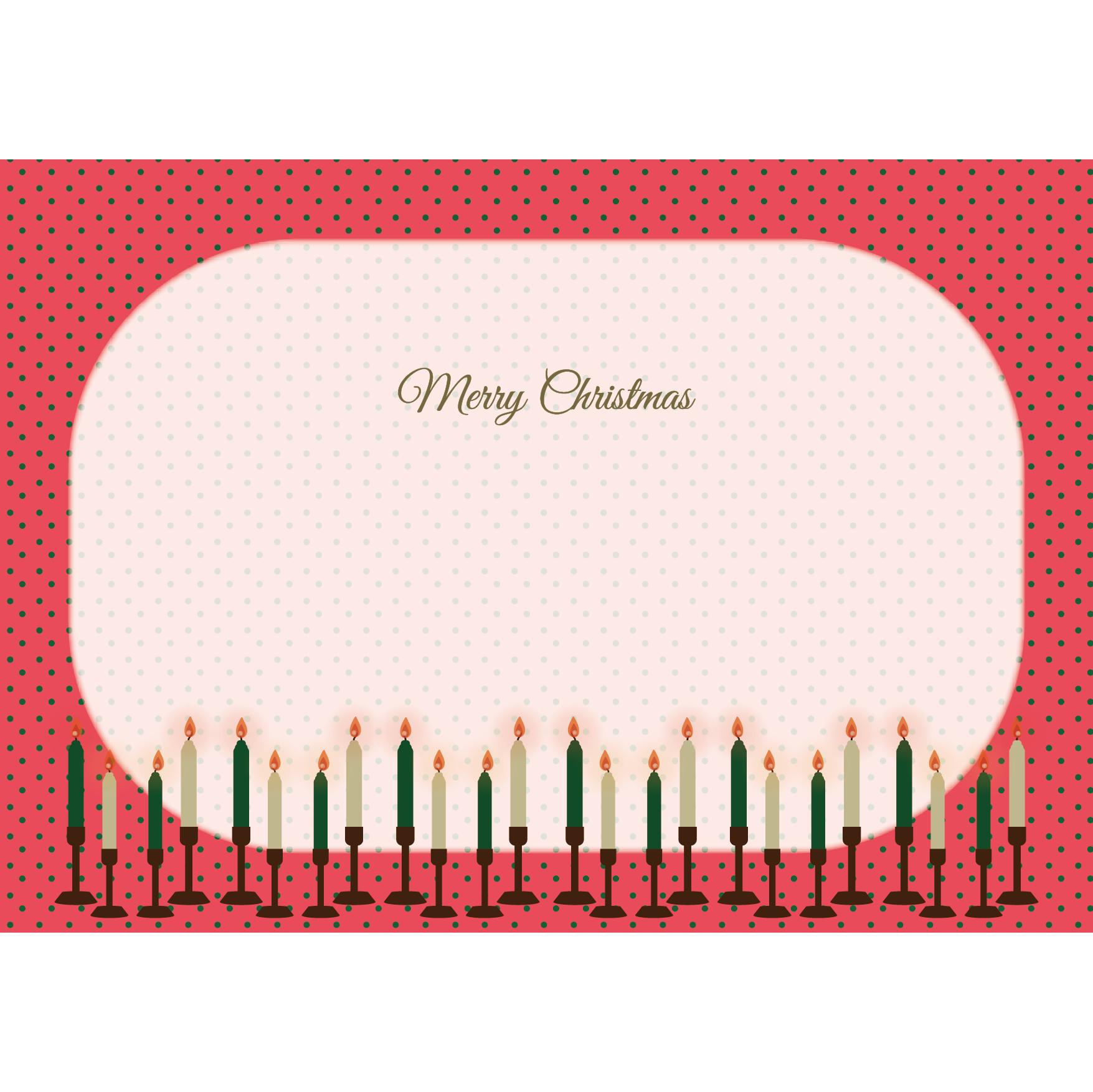 クリスマス キャンドルのフレーム フリーイラスト | 商用フリー(無料