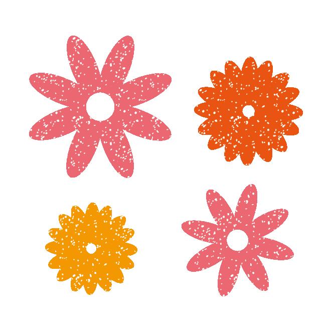 かわいい お花のスタンプ素材 イラスト 商用フリー無料のイラスト