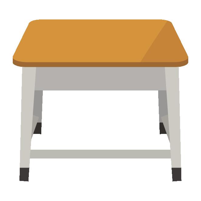 学校の机つくえデスクの イラスト 商用フリー無料のイラスト