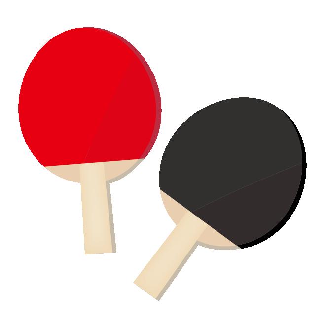 卓球のラケット セット 赤色と青色 フリーイラスト 商用フリー 無料 のイラスト素材なら イラストマンション