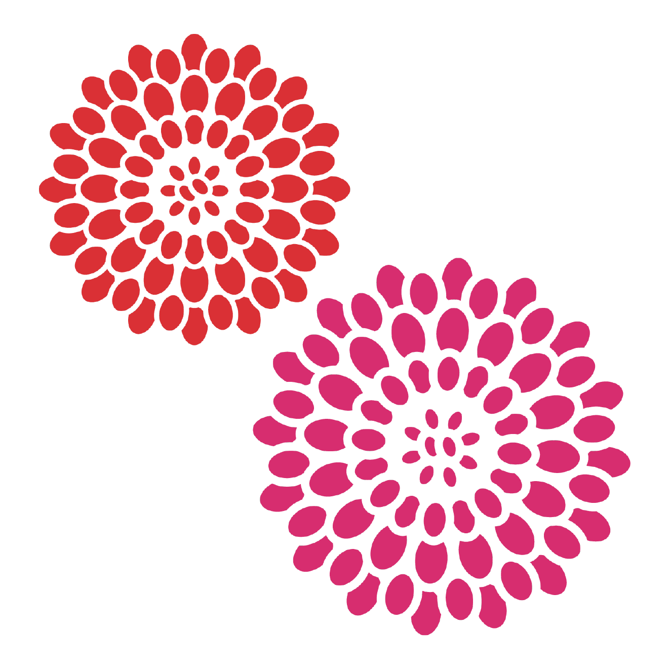 年賀状に使えそうな和風お花のデザインイラスト | 商用フリー(無料)の