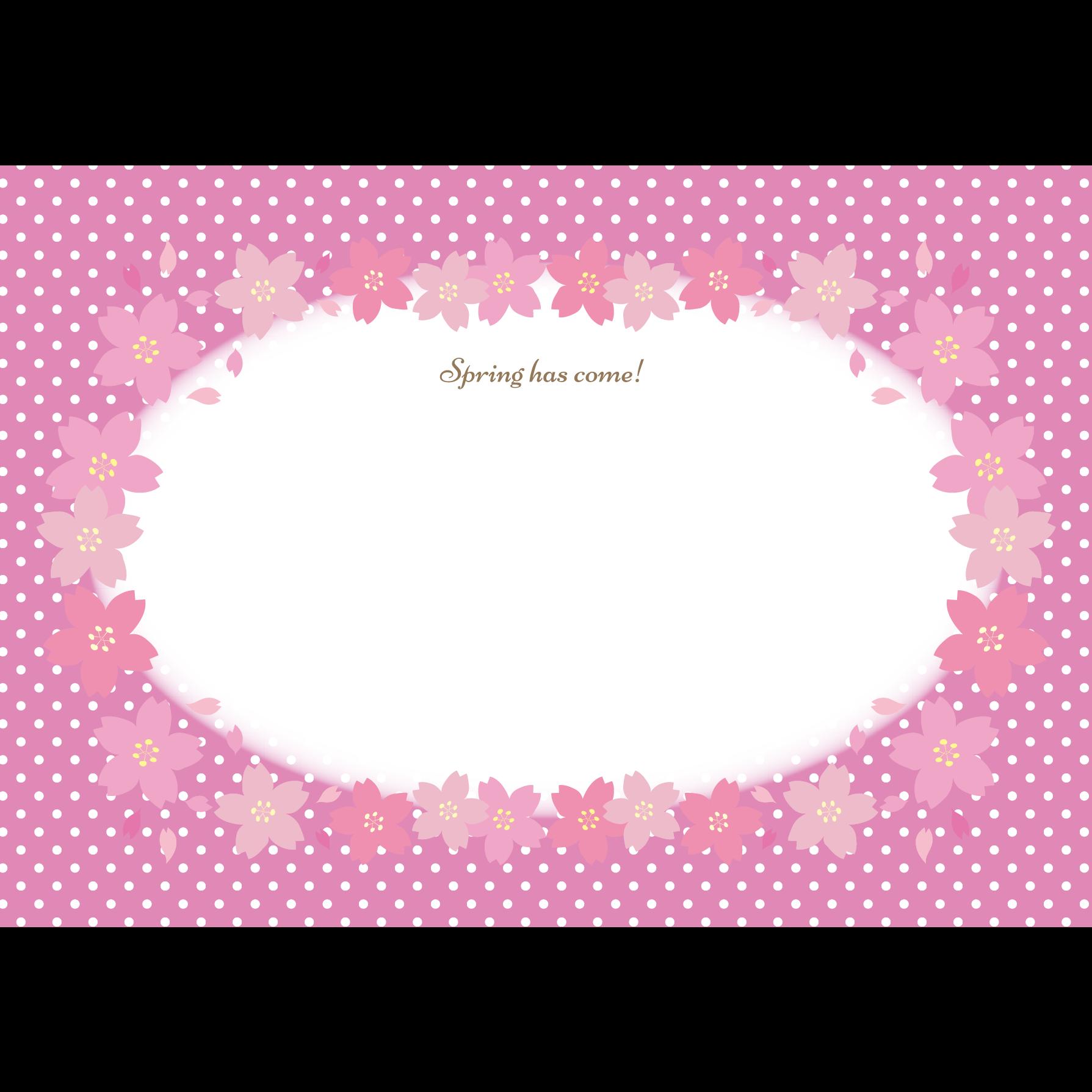 かわいい 桜の便箋レターセットa4 テンプレートイラスト 商用