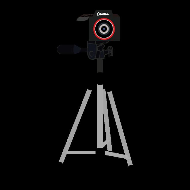 カメラと三脚のおすすめ イラスト 商用フリー 無料 のイラスト素材なら イラストマンション
