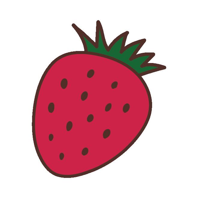 かわいい 苺 イチゴ いちご の イラスト素材 商用フリー 無料 のイラスト素材なら イラストマンション