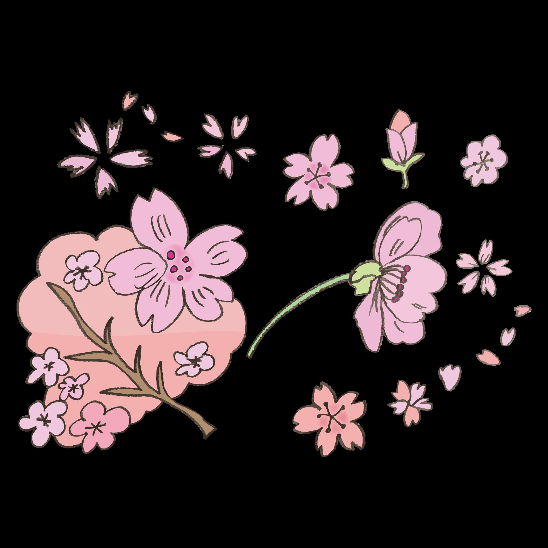 かわいい桜サクラさくら の 手書き 無料 イラスト 商用