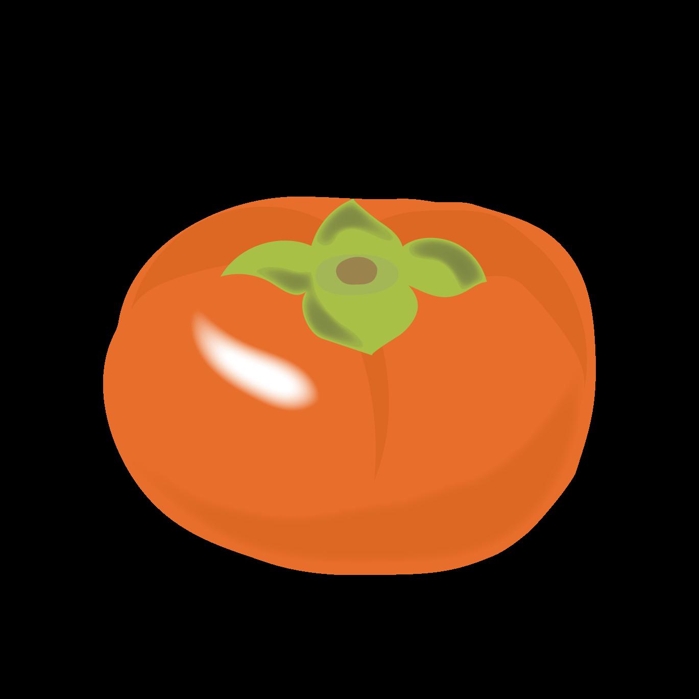 柿カキの イラストフルーツ果物 商用フリー無料のイラスト