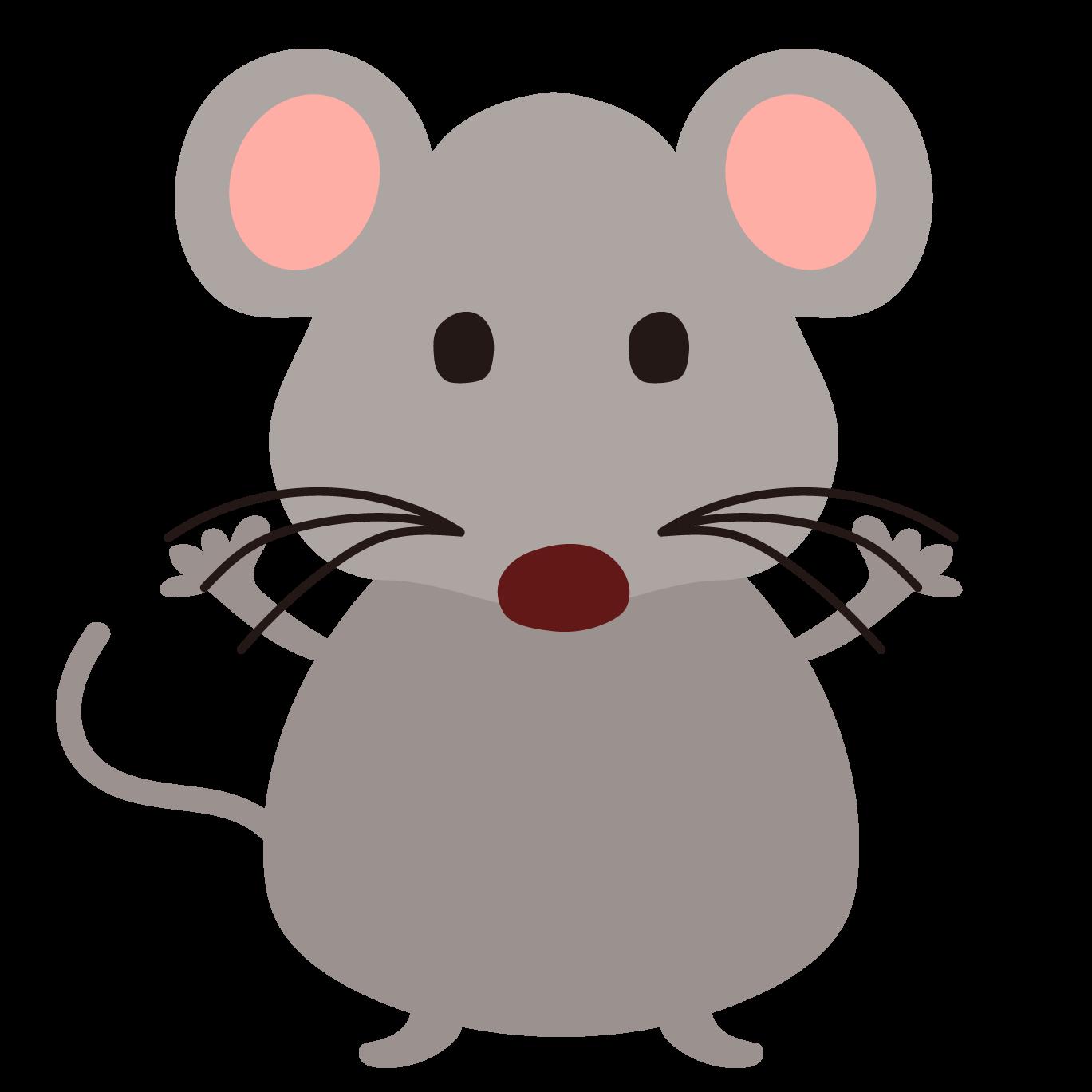 ネズミねずみ鼠の全身の 無料フリーイラスト 商用フリー