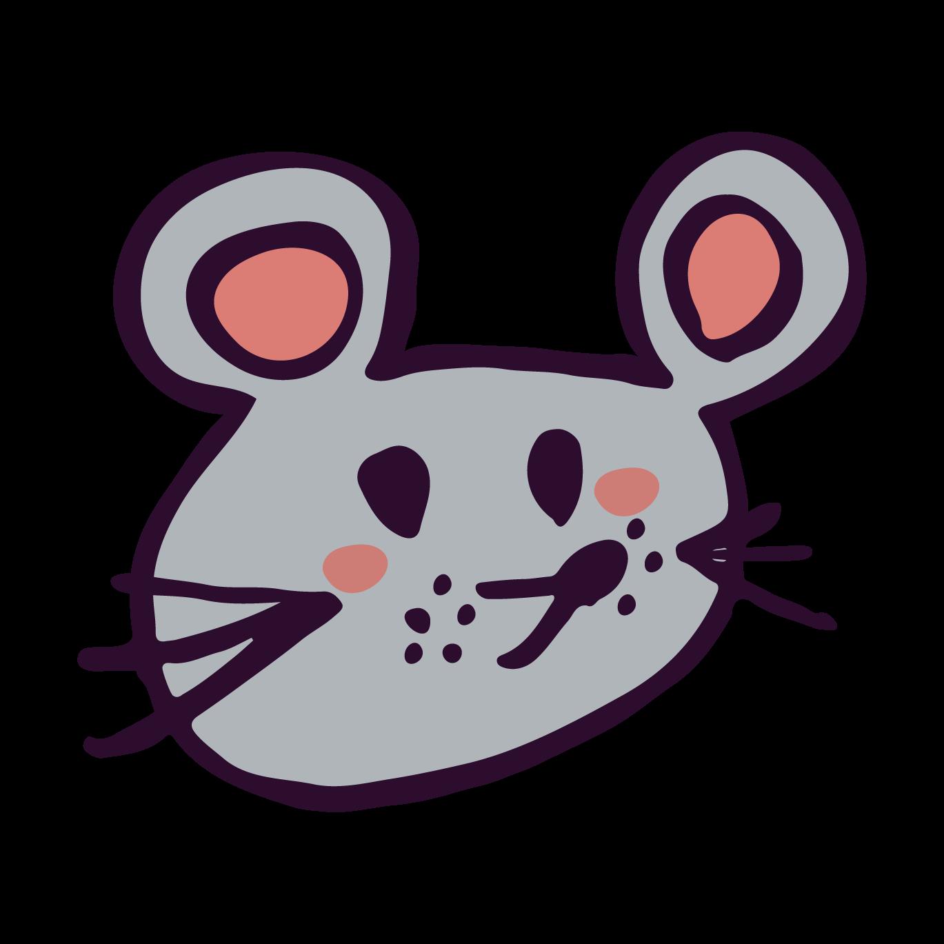 かわいいネズミ鼠ねずみ顔アップ手書き 無料 イラスト