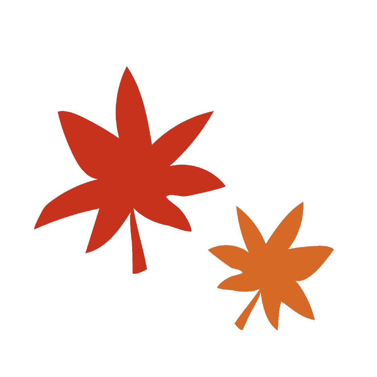 秋の紅葉紅葉もみじの かわいい 無料 イラスト 商用フリー無料