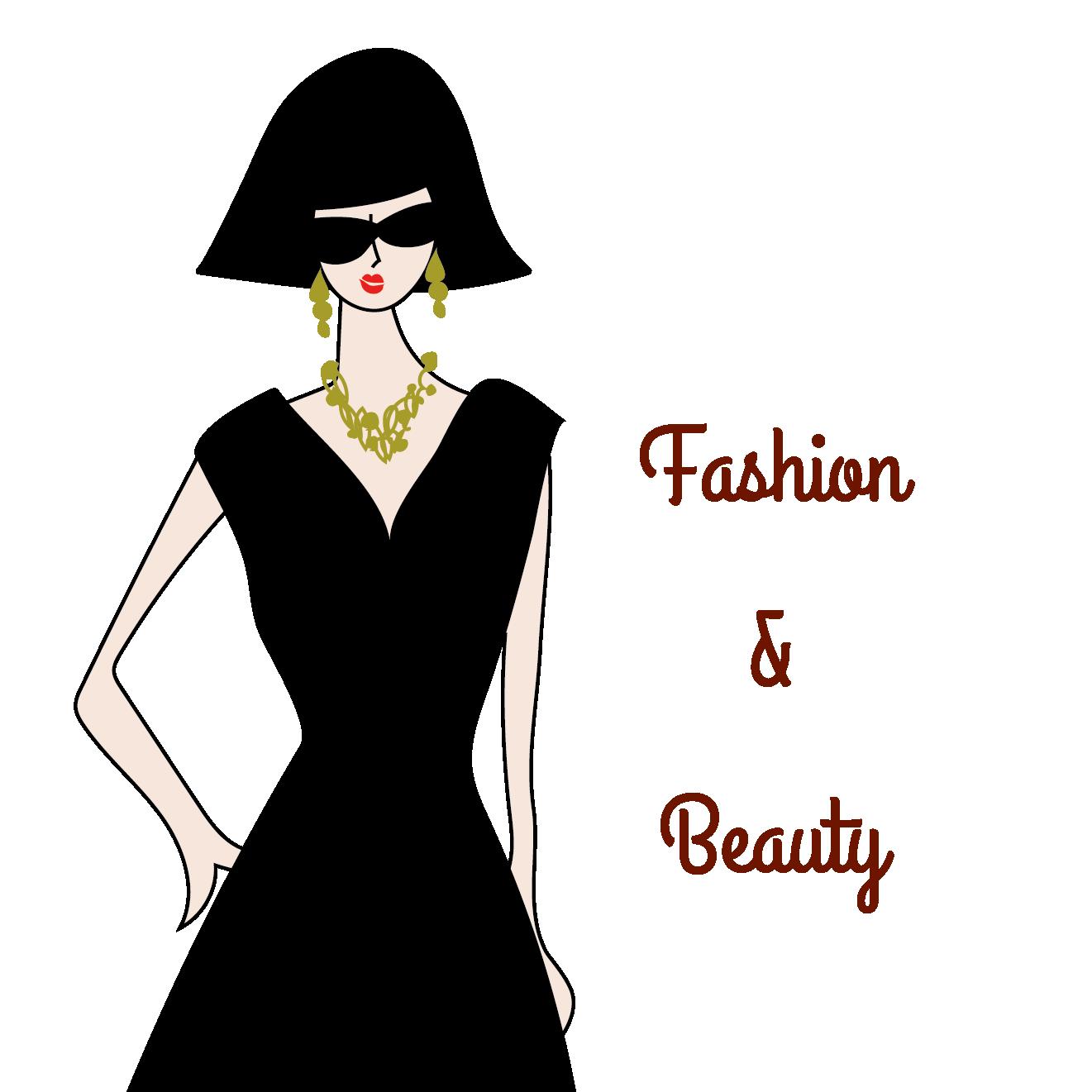 ボブヘアー女性がオシャレな夏服黒ワンピースドレスを着たイラスト